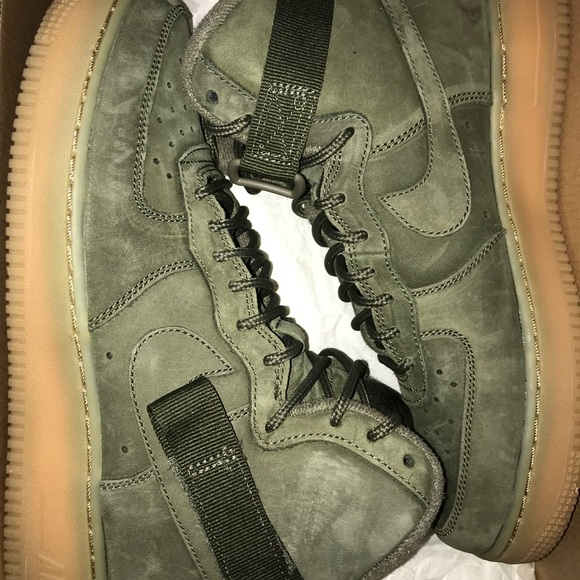 Nike Shoes Olive Green Air Force 1 High Tops Poshmark